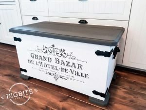 Customer's Work: Hotel de Ville on vintage chest