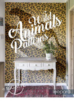 Wild Animals Pattern Stencil - Leopard Print