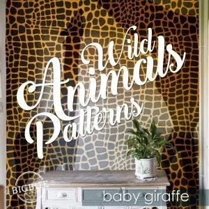Wild Animals Pattern Stencil - Baby Giraffe Print