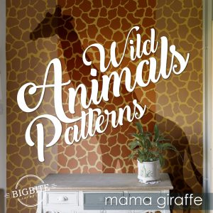 Wild Animals Pattern Stencil - Mama Giraffe Print