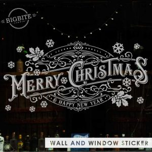 Merry Christmas Vintage Typography Banner - main image