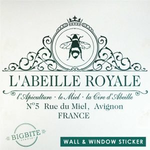 Main image of the Royal Beekeeper Wall and Window Film Sticker.