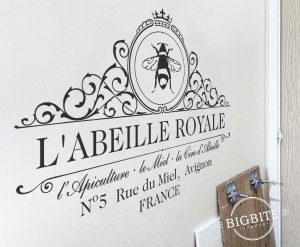 Secondary image of the Royal Beekeeper Wall and Window Film Sticker. black vinyl decal on a wall