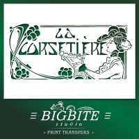 Art Deco Stencil La Corsetiere Corset Maker Advert
