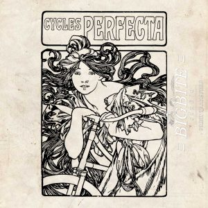 Art Nouveau Stencil - Cycles Perfecta Alphonse Mucha - main preview