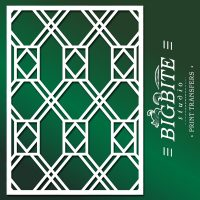 Decor Pattern Stencil: Window Glass Trellis