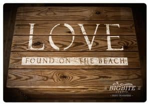 Elegant Steciled Letters - Font Paddington Roman (Love Found on the Beach)