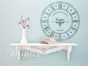 Old Paddington Handless Clock Face Vintage Stencil