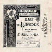 Vintage French Label: Giraud Fils Eau de Lavande