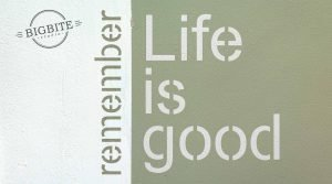 Remember - life is good.