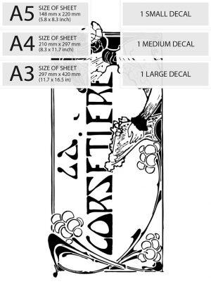 Art Deco Print Transfer - ''La Corsetiere'' Corset Maker Advert - sizes