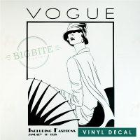 Art Nouveau Vogue Magazine Cover - Vinyl Decal: Main preview