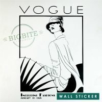 Art Nouveau Vogue Magazine Cover - Window Sticker: Main preview