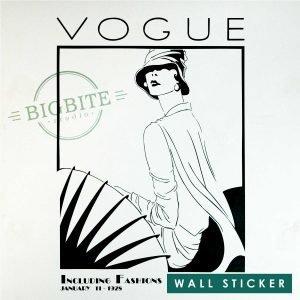 Art Nouveau Vogue Magazine Cover - Window Sticker: Main preview