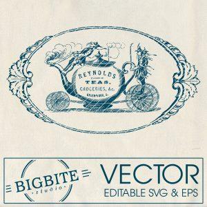 Main Icon of editable vector image: reynolds teas
