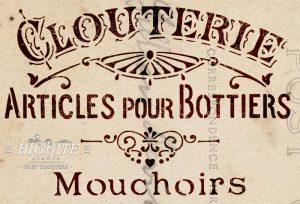 French Stencil Articles de Paris - Clouterie Advert - detail