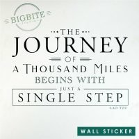 "Motivational Quote ""the journey of a thousand miles begins with juast a single step"""