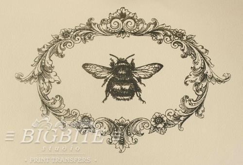 Screen printing:Flower Frame:Bamblebee