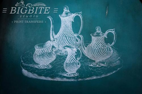 Screen printing:Vintage Teapots