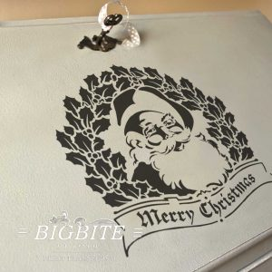 Santa & Merry Christmas Wishes - Furniture Print Transfer