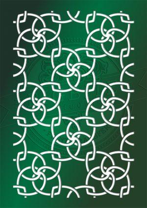 shabby chic stencil walpaper pattern