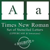 Main image for Times New Roman Stencil Font – lowercase and UPPERCASE Lettering