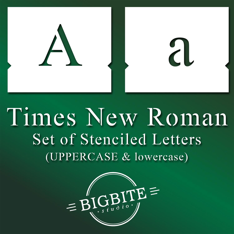 Times New Roman Stencil Font