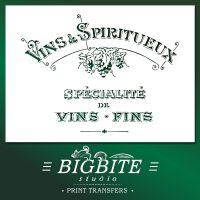 Shabby Chic Stencil - Vins & Spiritueux