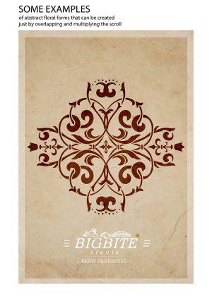 Vintage Corner Scroll - Spanish Swirl Stencil