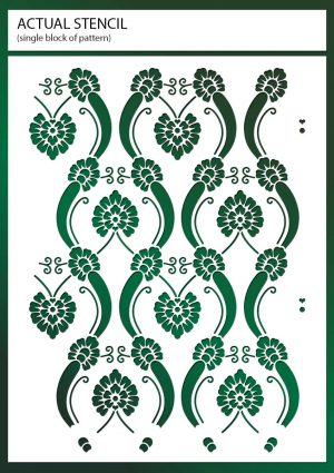 Vintage Floral Art Nouveau Wallpaper