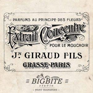 Vintage French Label: Giraud Fils Perfume