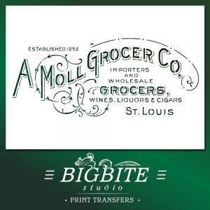 vintage grocery sign advert stencil