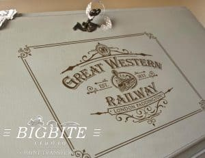 Vintage Print Transfer - Great Western Railway Advert main preview
