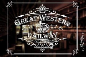 Vintage Print Transfer - Great Western Railway Advert preview mirror