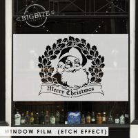 Window Film Preview: Santa Merry Christmas Seasonal Greetings