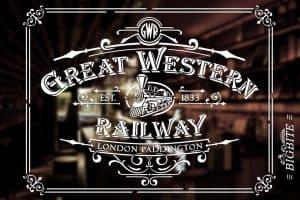 Vintage Stencil - Great Western Railway Advert - whiskey bar