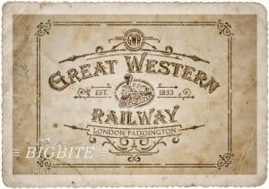 Vintage Stencil - Great Western Railway Advert - old paper