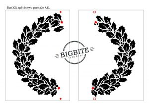 Holy Wreath Christmas Decal: XXL size (2x A1) preview